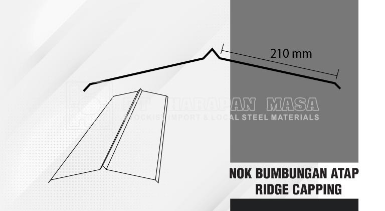 Nok Bumbungan Atap / Ridge Capping